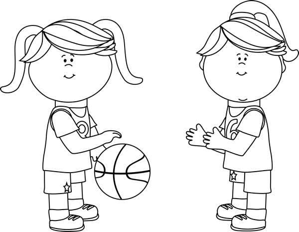 Clipart of three little girls playing black and white clipart transparent library Free Sport Girl Cliparts, Download Free Clip Art, Free Clip Art on ... clipart transparent library