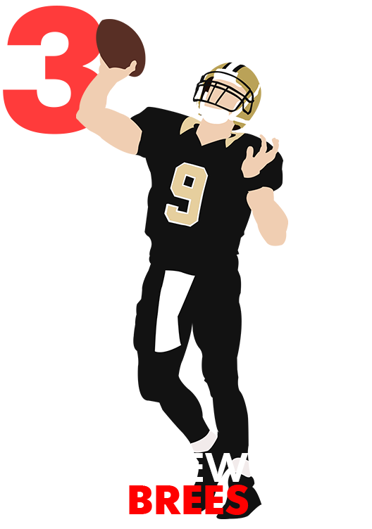 Thrown football clipart clip black and white library QB Rank No. 3: Drew Brees | USA TODAY Sports Wire clip black and white library