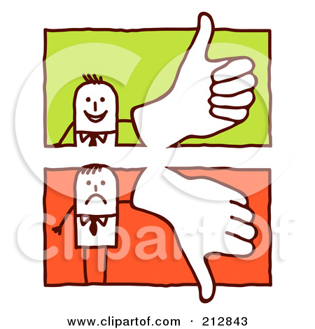 Clipart of thumbs up and thumbs down picture royalty free Royalty-Free Vector Clip Art Illustration of a Stick Man Giving A ... picture royalty free