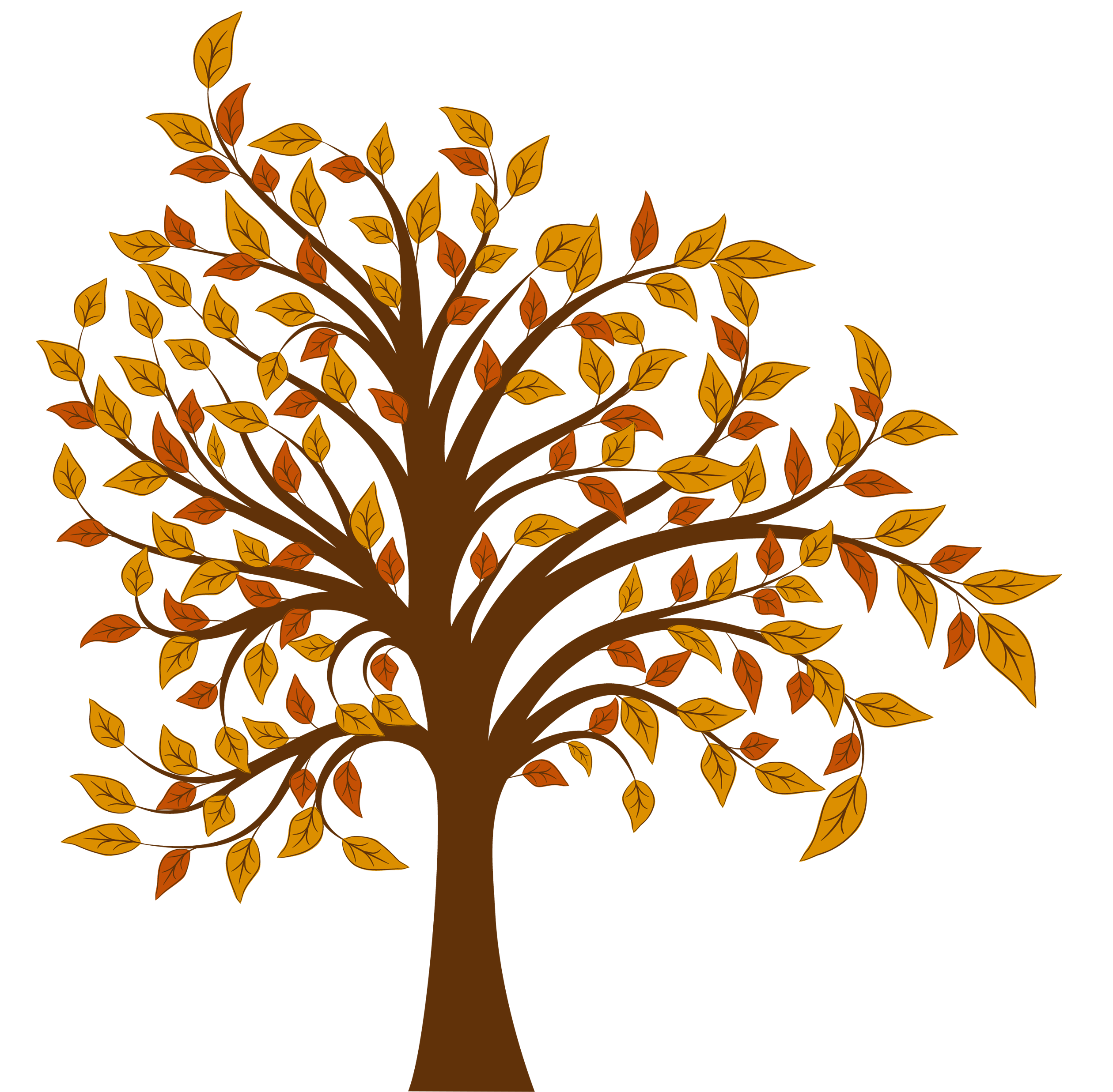 Clipart of trees in the fall vector transparent library Fall Tree PNG Clipart Image | Gallery Yopriceville - High-Quality ... vector transparent library