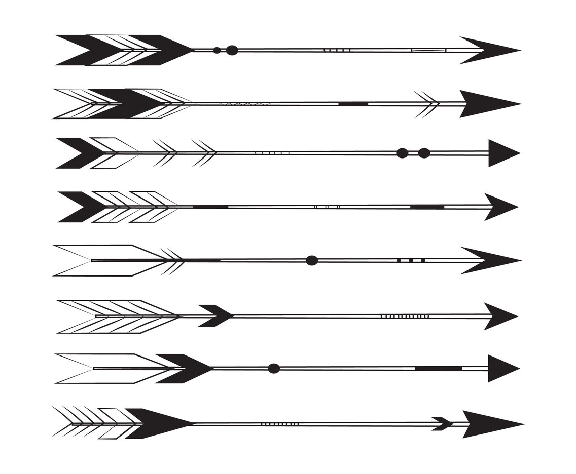 Clipart of tribal arrow black and white banner freeuse stock Arrow Tribal Vector Art & Graphics | freevector.com banner freeuse stock
