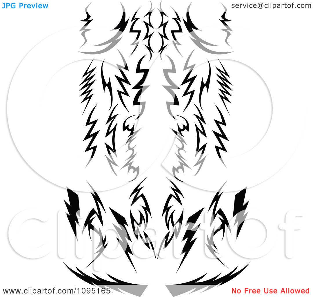 Clipart of tribal arrow black and white banner transparent download Clipart Black And White Tribal Lightning Bolts Arrows And Designs ... banner transparent download