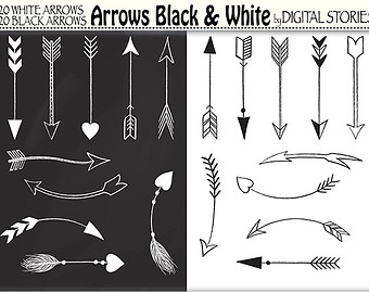 Clipart of tribal arrow black and white svg freeuse library Tribal archery | Etsy svg freeuse library