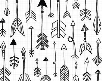 Clipart of tribal arrow black and white graphic black and white Tribal arrow clipart – Etsy UK graphic black and white