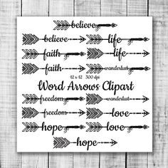Clipart of tribal arrow black and white graphic freeuse download VECTOR Hand Drawn clipart arrows | Creative, Clip art and Middle graphic freeuse download