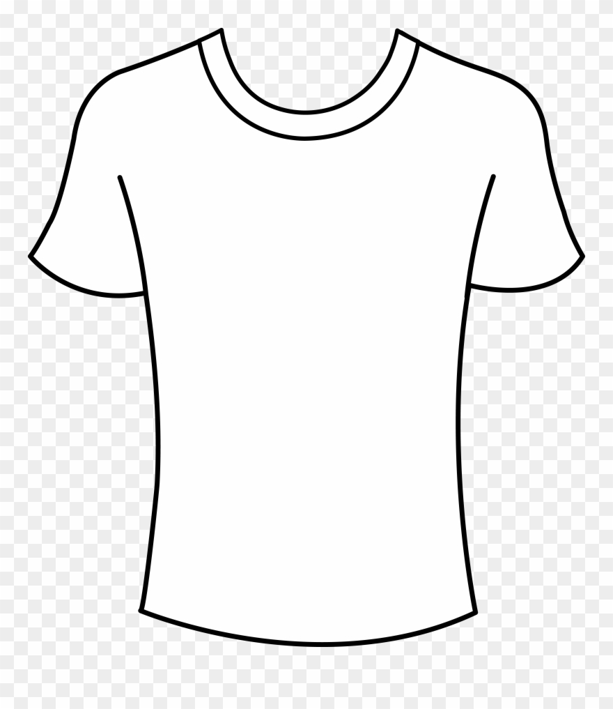 Thsirt clipart graphic transparent library T Shirt Shirt Outline Clip Art Clipart Clipart - Png Download ... graphic transparent library