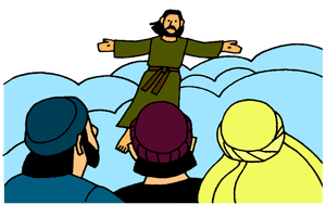 Clipart of two angels talk to disciples after jesus ascension clip free library Great Commission and Ascension of Jesus – Mission Bible Class clip free library