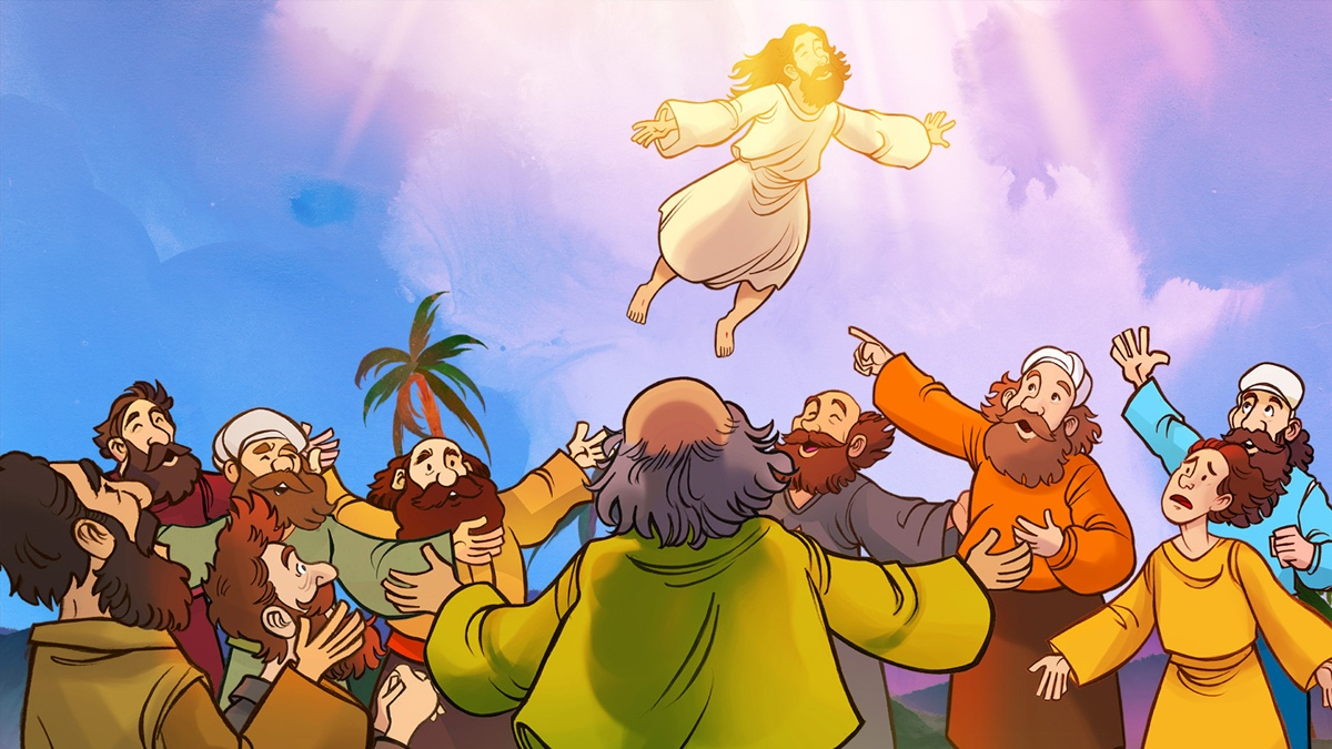 Clipart of two angels talk to disciples after jesus ascension free download The Top 10 Pentecost Sunday School Lessons For Kids free download
