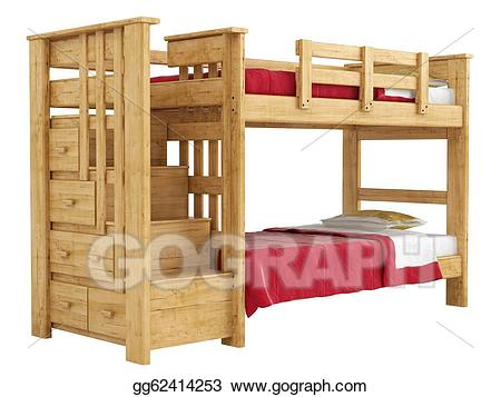 Clipart of two boys in a bunk bed picture freeuse download bed: bunk bed detail drawing picture freeuse download