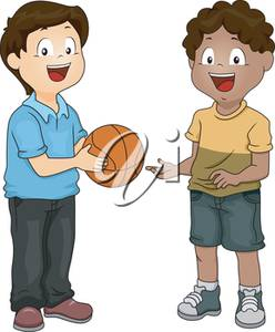 Clipart of two boys playing ball picture download Clipart Illustration of Two Boys With a Basketball picture download