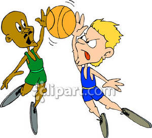 Clipart of two boys playing ball svg free download Two Boy Playing Basketball - Royalty Free Clipart Picture svg free download