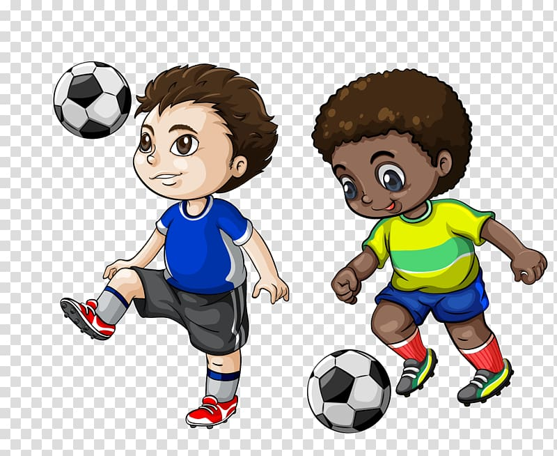 Clipart of two boys playing ball black and white download Two boys playing soccer , Football player Cartoon , football ... black and white download