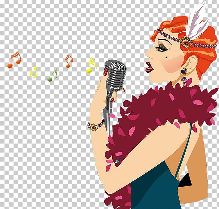 Clipart of two ladies singing with microphones jpg black and white stock Singing Music Woman PNG, Clipart, Art, Audio, Business Woman ... jpg black and white stock