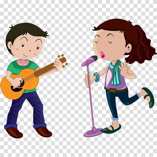 Clipart of two ladies singing with microphones jpg transparent Microphone Cartoon Singing Female, Singing children transparent ... jpg transparent