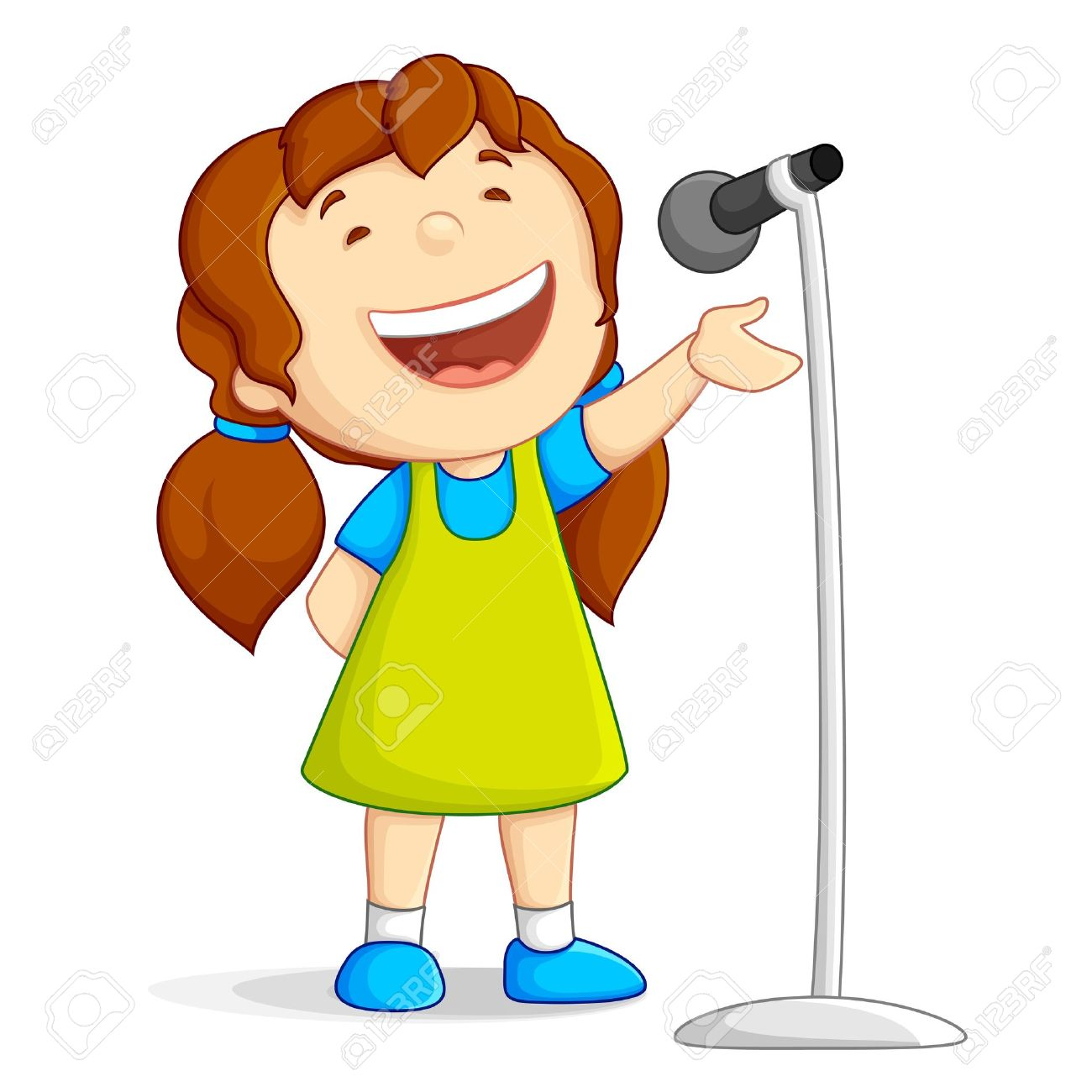 Clipart woman singing image freeuse library Singing Microphone Clipart - Free Clipart image freeuse library
