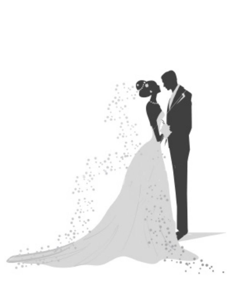 Clipart of two people wedding graphic black and white stock 17 Best ideas about Wedding Clip Art on Pinterest | Watercolor ... graphic black and white stock