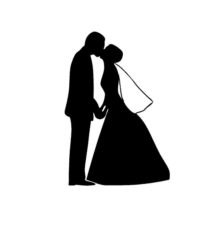 Clipart of two people wedding banner black and white stock Wedding silhouette clip art - ClipartFest banner black and white stock