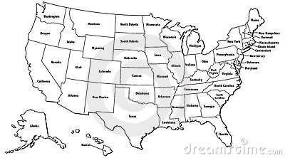Clipart of united states map outline clip freeuse Outline Map Of United States Royalty Free Stock Photography ... clip freeuse