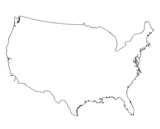 Clipart of united states map outline jpg library library Blank Us Map Clipart - Clipart Kid jpg library library