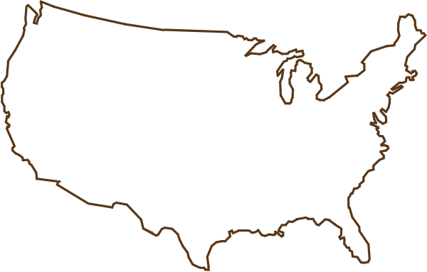 Clipart of united states map outline image transparent Usa Map Outline Clipart - Clipart Kid image transparent