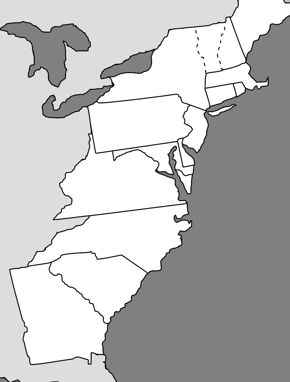 Clipart of united states map outline and 13 colonies graphic royalty free library Outline Map Of Original 13 Colonies With Clipart United States And ... graphic royalty free library