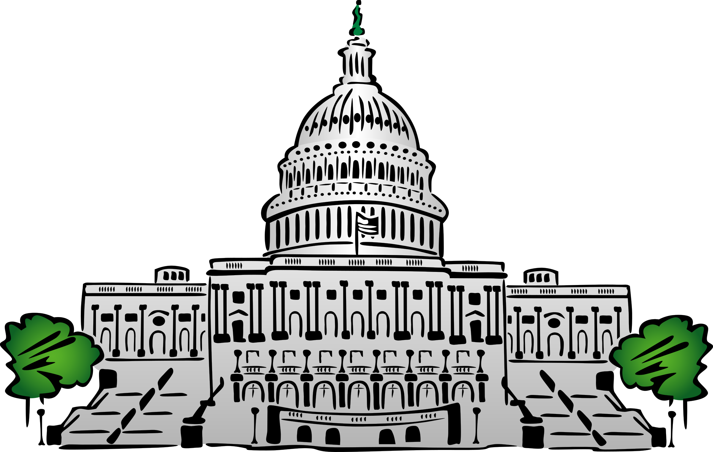 Clipart of us. Capitol building big image