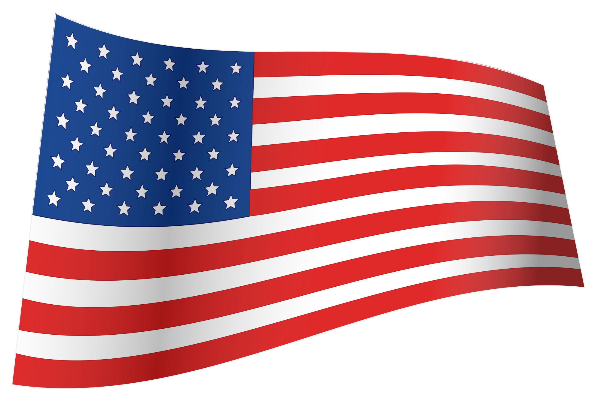 Clipart of us flag. File iconic waving svg