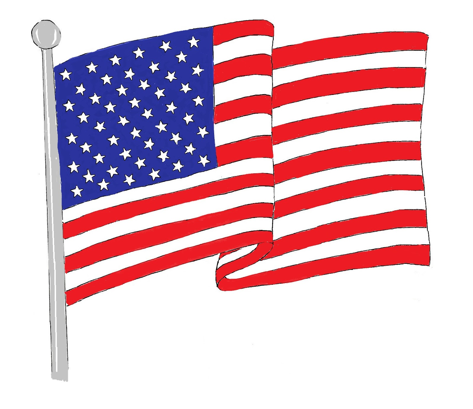 Clipart of us flag graphic free stock Us flag american flag free clip art clipart 5 - Clipartix graphic free stock