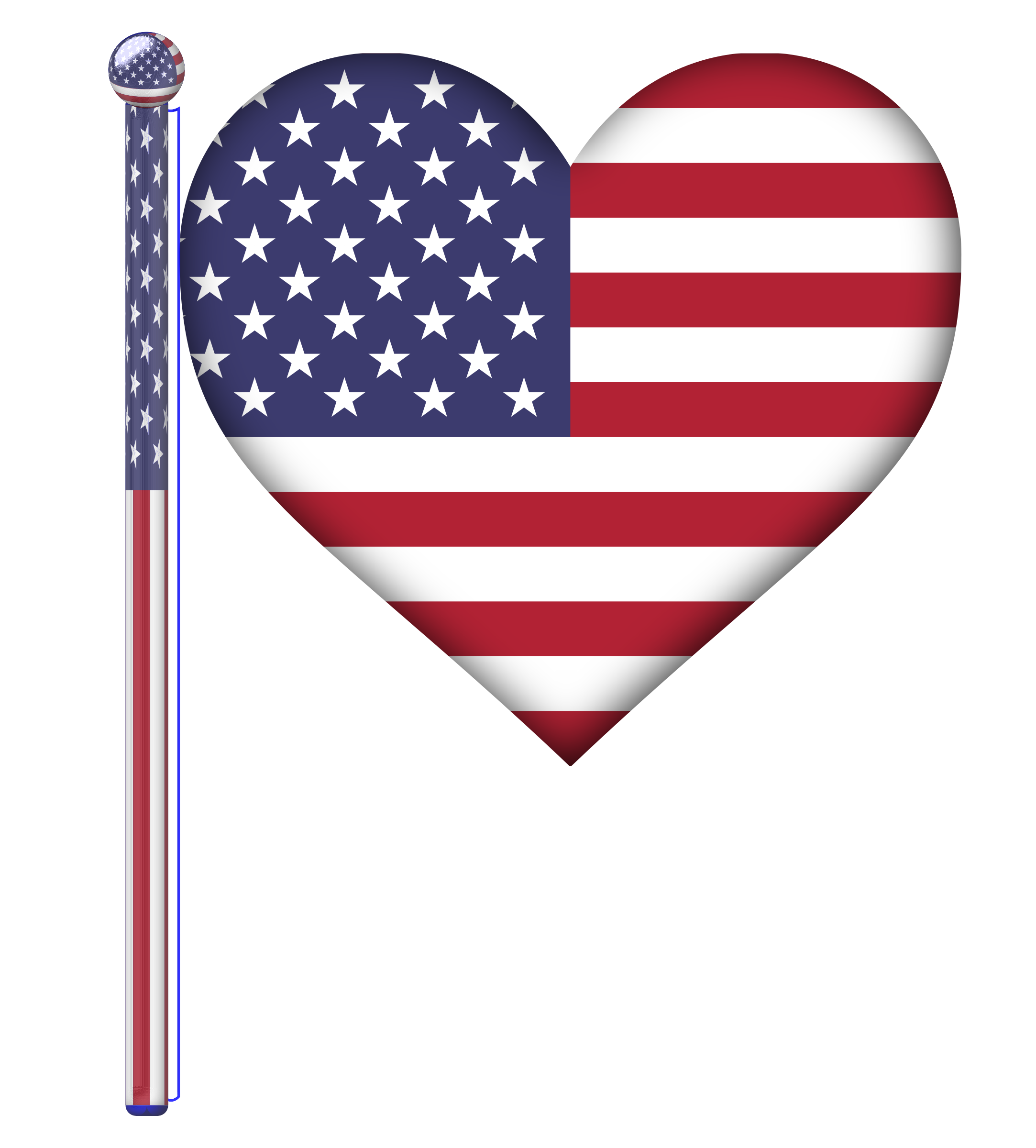 Flag of united states clipart jpg Clipart - USA Heart Flag jpg