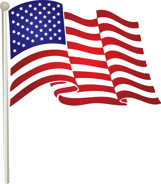 Clipart of us flag. Waving clip art at