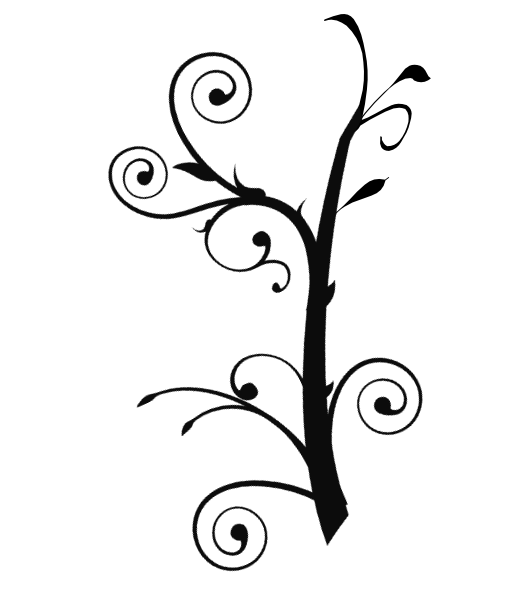 Clipart of vines and branches vector black and white download Branch Vine Swirl Clip Art at Clker.com - vector clip art online ... vector black and white download