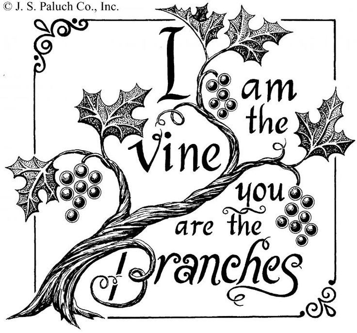 Clipart of vines and branches svg black and white i am the vine you are the branches clip art - Google Search | I am ... svg black and white