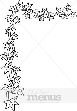 Clipart of vines and ivey black and white image library download Pin by shanna majko on drawing ideas   Ivy, Vine border, Black, white image library download