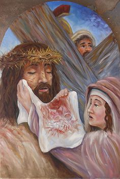 Clipart of vironivca wipes the face of jesus png library download 64 Best St Veronica & Veil of Jesus images in 2017 | St veronica ... png library download