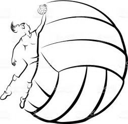 White volleyball clipart freeuse library Image result for free volleyball clipart black and white ... freeuse library
