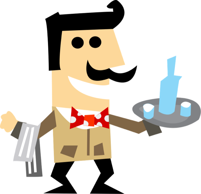 Waiters and waitresses clipart royalty free stock Free Clipart of Waiters, Waitresses and Bartenders royalty free stock