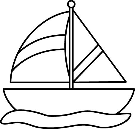 Clipart of water transport black and white image download Water Transportation Clipart Black And White Hd   Letters within ... image download