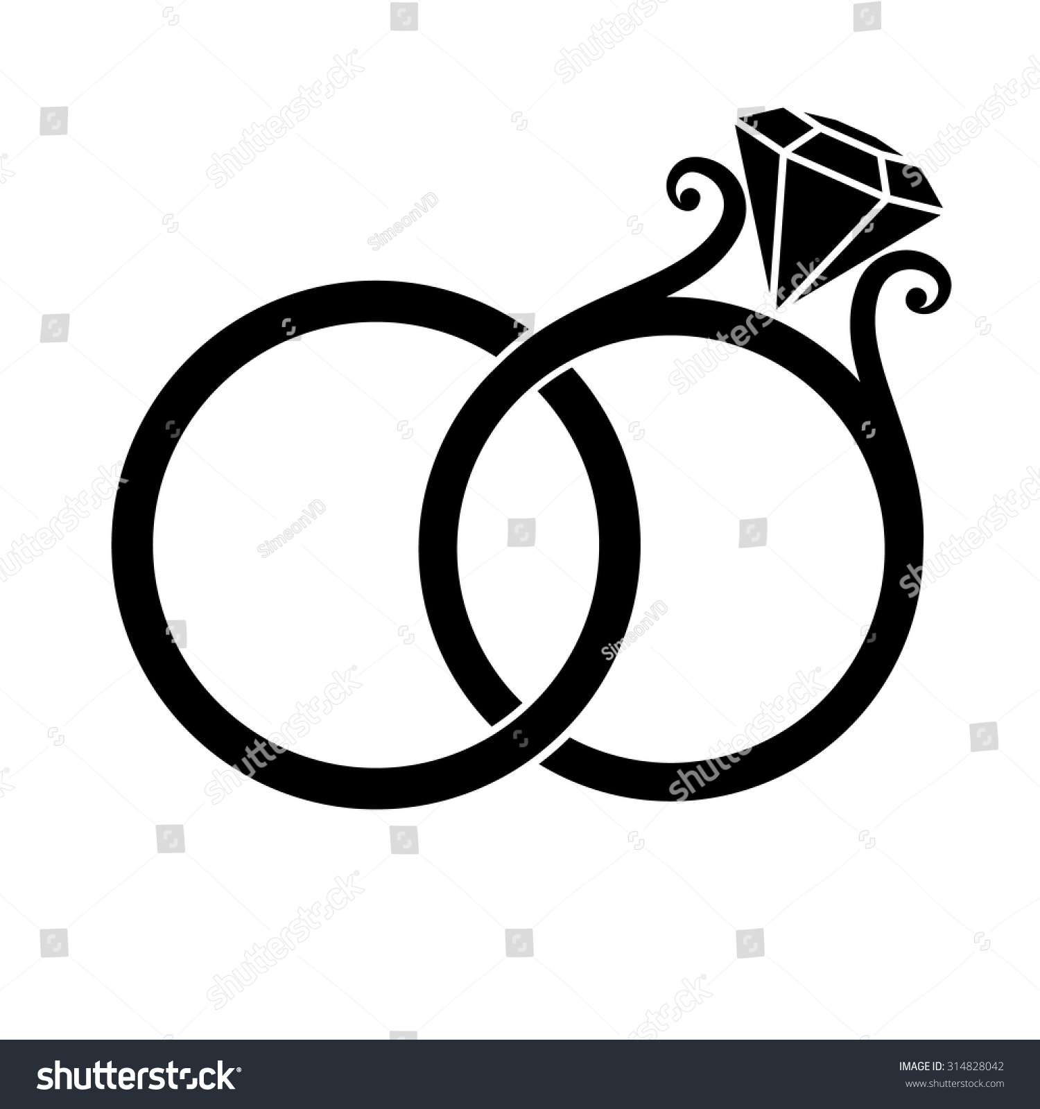 Clipart of wedding ring black and white graphic freeuse stock Wedding Ring Black And White Clipart Galleryhip.com - Free Clipart graphic freeuse stock
