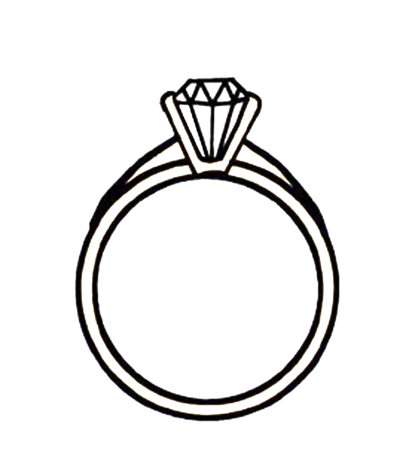 Clipart of wedding ring black and white clipart library library Clip Art Black and White Diamond Ring - See more amazing jewelry at ... clipart library library