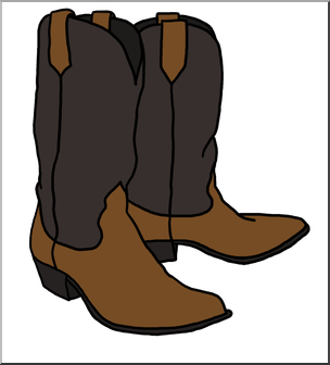 Cowboy theme clipart vector stock Clip Art: Western Theme: Cowboy Boots Color I abcteach.com | abcteach vector stock
