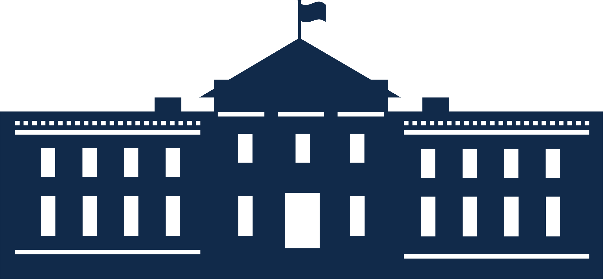 Clipart white house vector library library Clipart - Whitehouse Silhouette vector library library