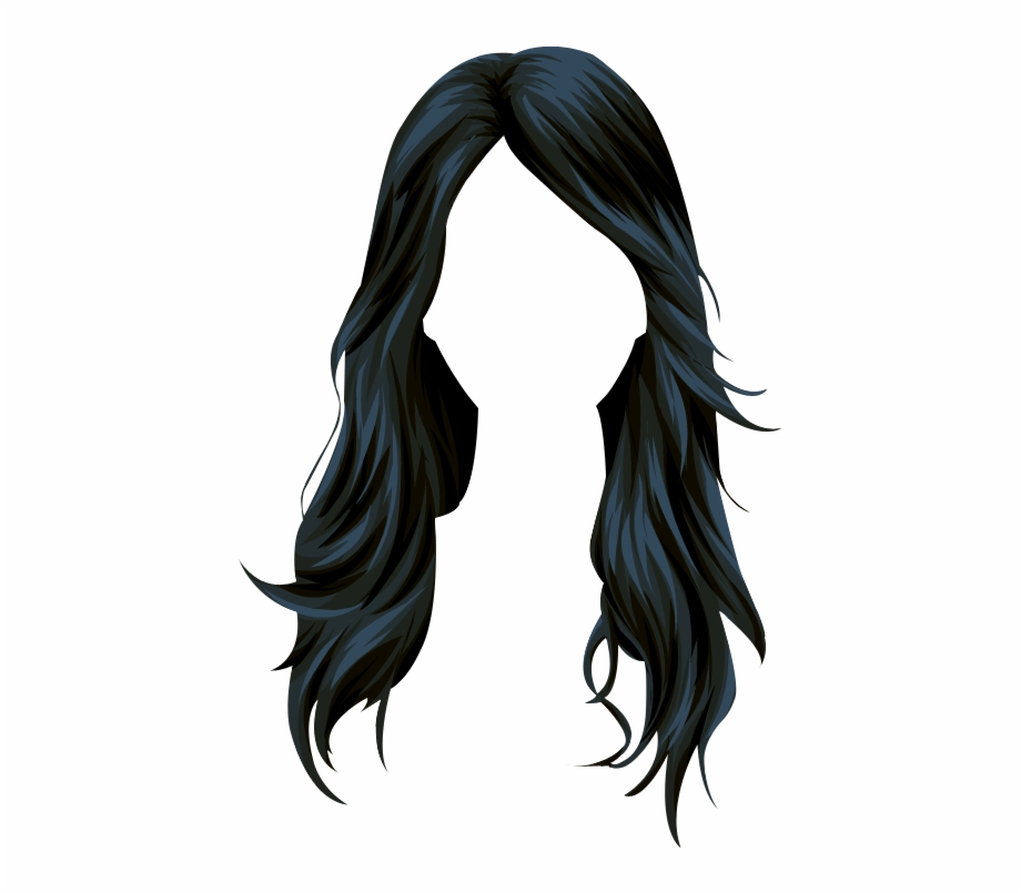 Long black hair clipart banner free Wig Stardoll Long Hair Vector Black Clipart - Black Hair Vector Free ... banner free