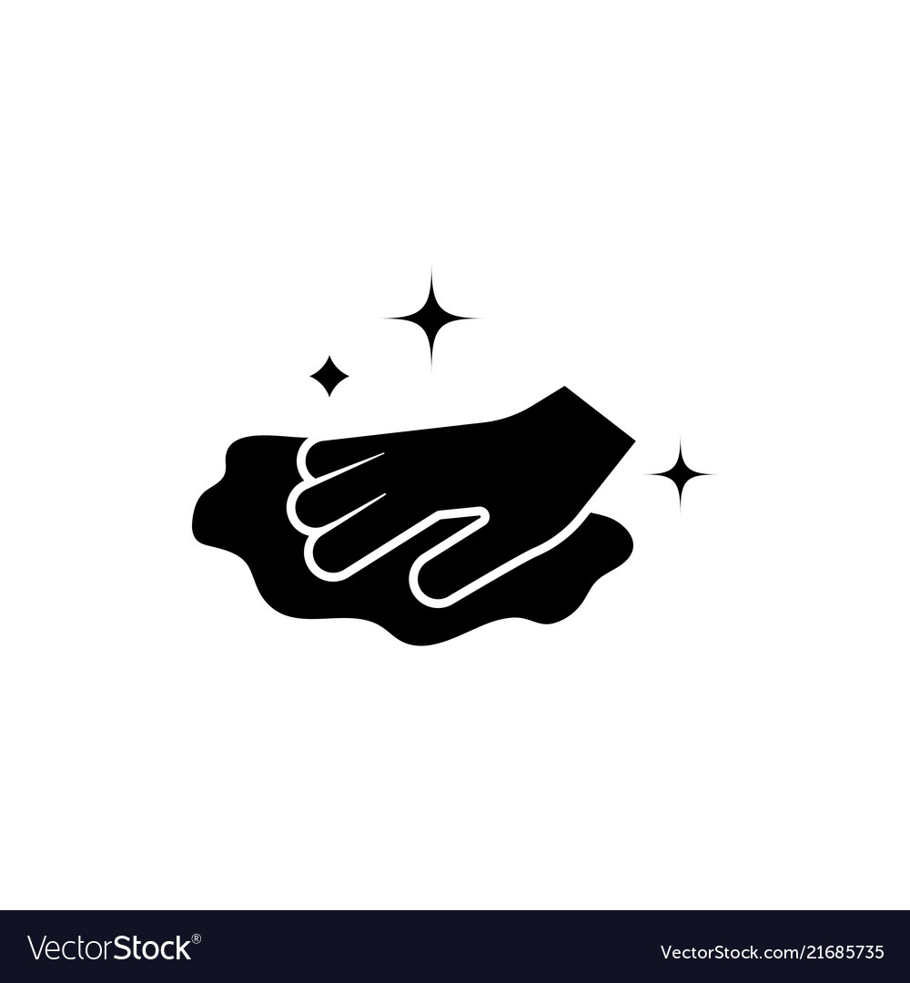 Clipart of wiping hands with disposable wipes banner download Cleaning washing rag hand wiping cloth flat banner download