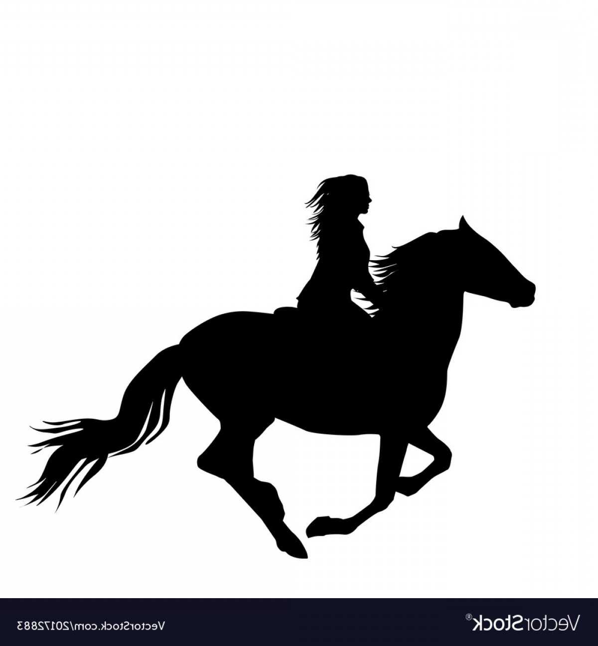 Clipart of woman riding a horse silhouette picture free library Vectors Horse And Rider | Savoyuptown picture free library