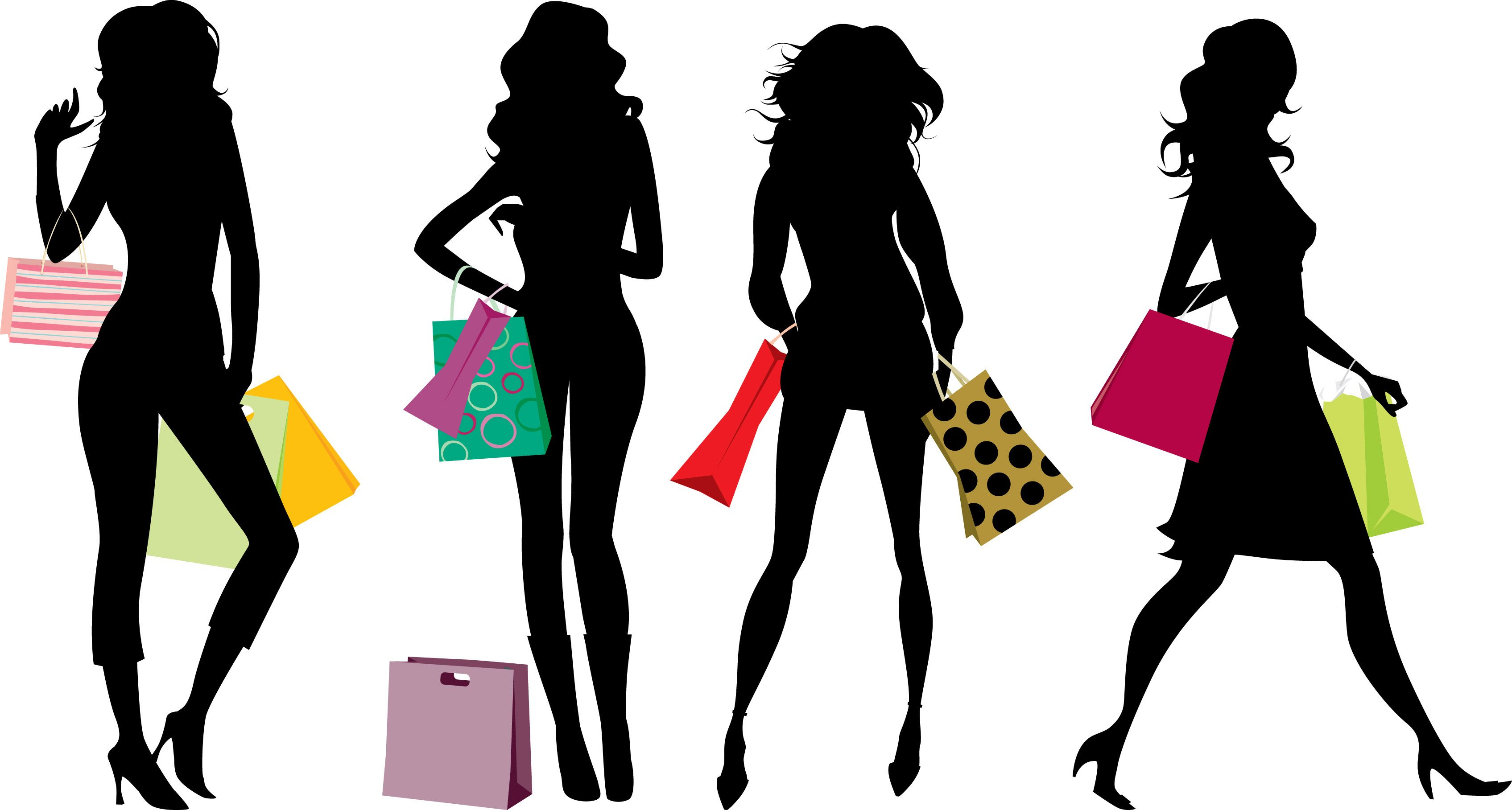 Womens shopping clipart graphic library stock Shopping As A Plus-Sized Person | shopping | Shopping clipart ... graphic library stock