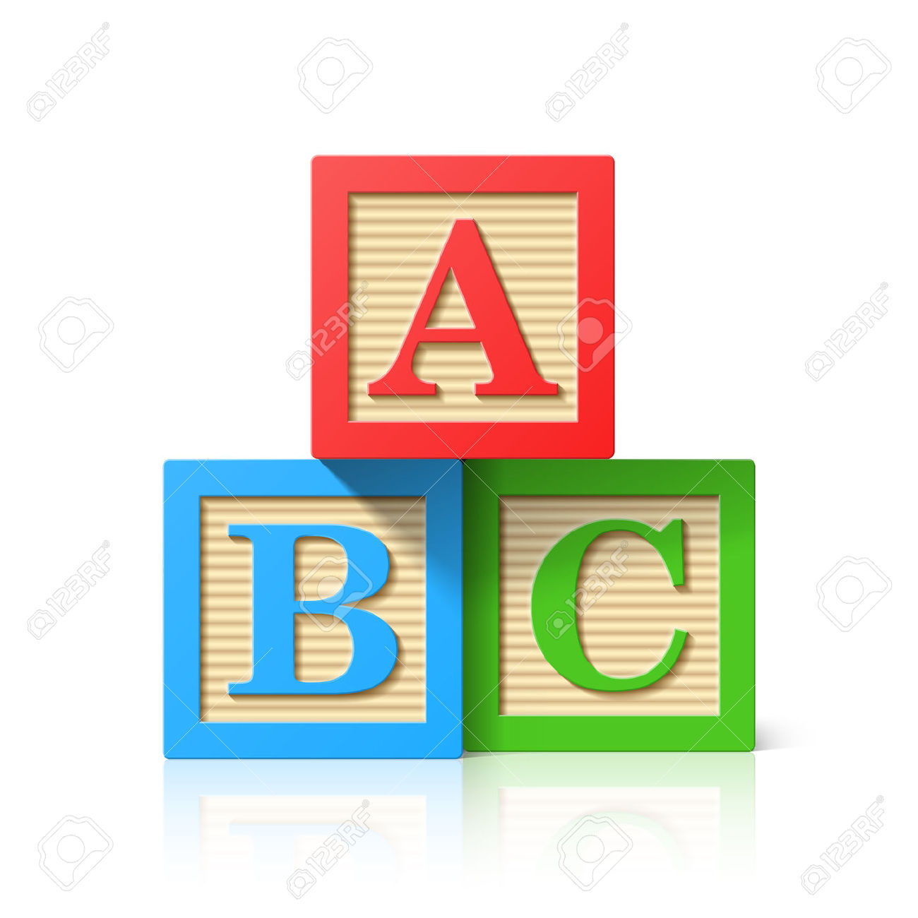 Clipart of wooden blocks with alphabet letter.  block cliparts stock