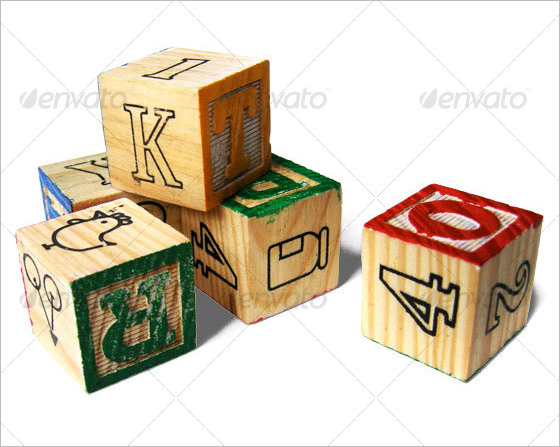Clipart of wooden blocks with alphabet letter.  letters free download