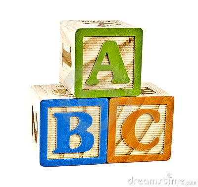 Abc in block letters. Clipart of wooden blocks with alphabet letter
