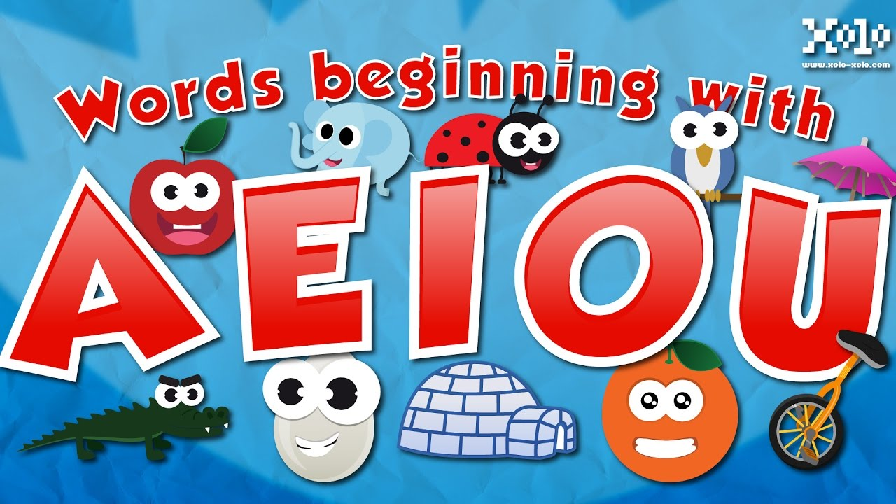 Clipart of words that start with o svg transparent download Words beginning with A, E, I, O and U in English for children | Video Learn svg transparent download