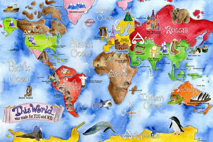 Clipart of world map clip art royalty free World map clipart for kids - ClipartFest clip art royalty free